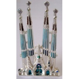 Miniatura Sagrada Familia en plata