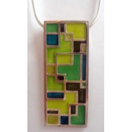 Colgante rectangular color verde