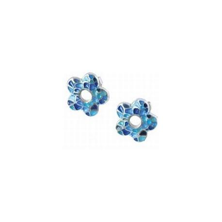 Pendientes Flor Trencadís Azul G