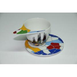 Mug Design for Coffee with Plate Sagrada Familia