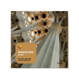 Postal Gaudiniana de Chocolate Sagrada Familia