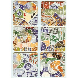 Set 6 Mosaique Cardboard Coasters