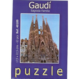 Puzzle Sagrada Familia 63 piezas