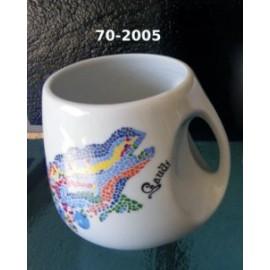 Beer mug with a printed dragon