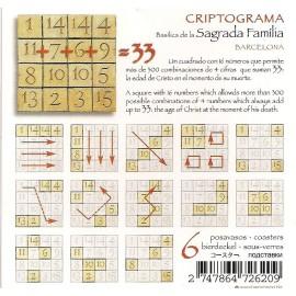 Set 6 Posavasos Criptograma