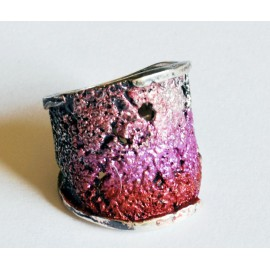 Modernist Enamel Ring