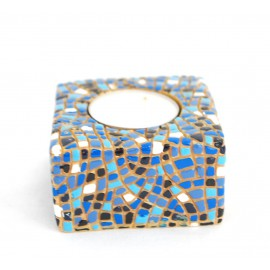 Square candle holder Blue
