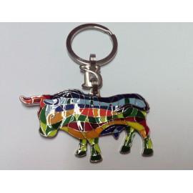 Trencadis bull key ring