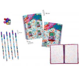 Set de cuaderno y lápiz Casa Batlló