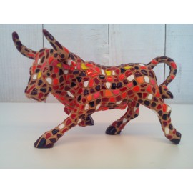 Super red trencadis bull 36 x 20 cm
