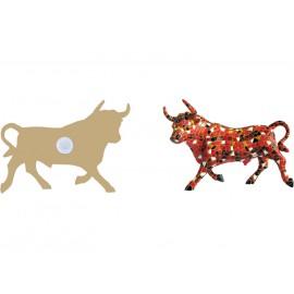 Red trencadis bull magnet