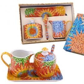 Gaudi Set of Sugar Bowl and Milk Jug