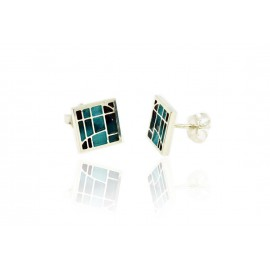Earrings Gaudí Vitral Turquoise