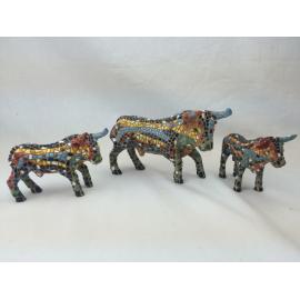 Set of 3 bulls