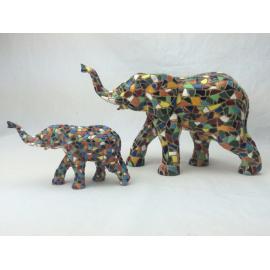 Set of 2 elephants