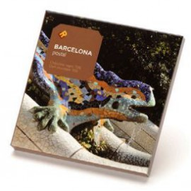 Gaudí Chocolate Postcard Park Güell Lizard