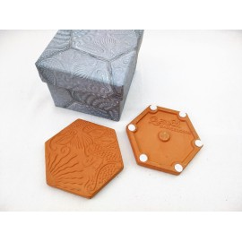 Set 6 Coasters Gaudí Hexagonal Orange Tile