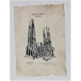 Sagrada Familia Lithography