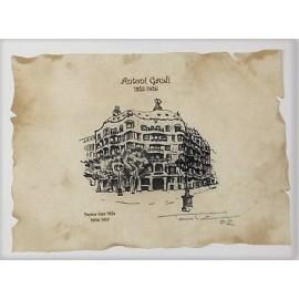 Casa Batlló Chimney Lithography