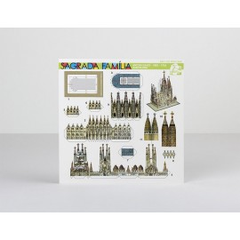 Postcard Paper Model Sagrada Familia