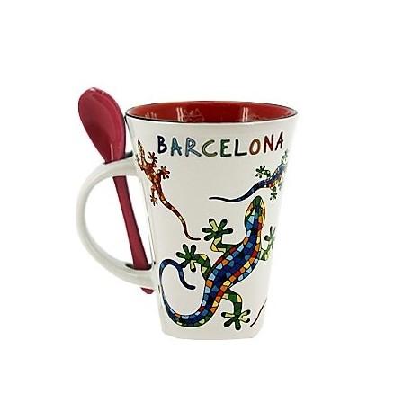 Mug with spoon Trencadís
