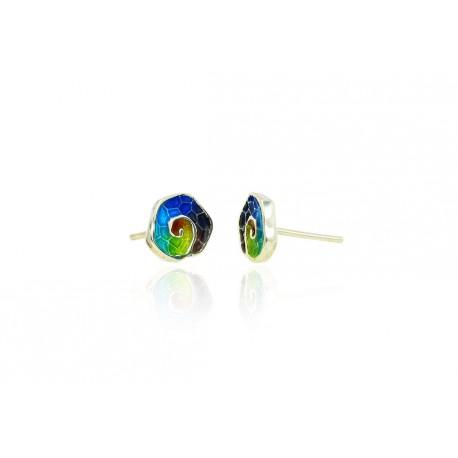 Gaudi Trencadis Snail-shaped Earrings