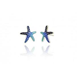 Pendientes Estrella Gaudí Trencadís Azul