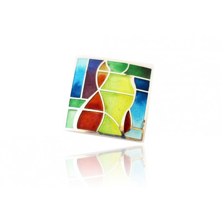 Colour Square Necklace