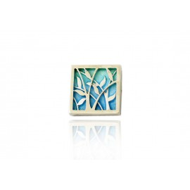 Pendant Leaves Blue Small