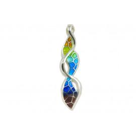 Colorful serpentine pendant