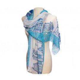 """Printed Fulard """"Skyline Barcelona"""""""