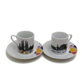 Round coffee set Sagrada Familia