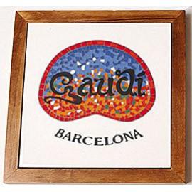 Baldosa salvamanteles Gaudí