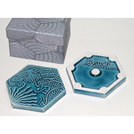 Set 6 posavasos baldosas Gaudí hexagonales