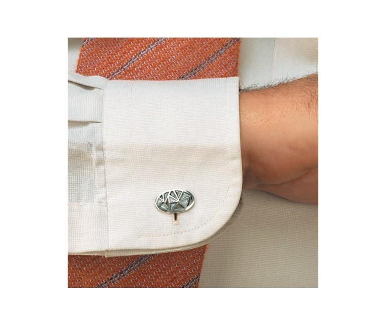 Cuff Links Oval Gray