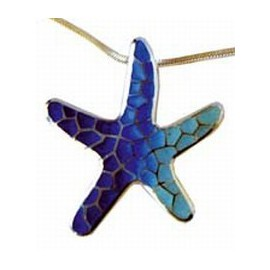 Pendant Star Gaudi Trencadis Blue Big