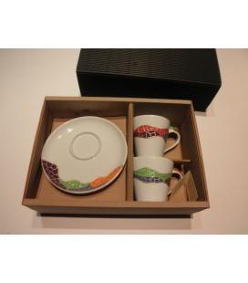 Original set 2 tazas y 2 platos de café