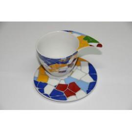 Taza Diseño para Café con Plato del Trencadís