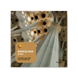 Gaudí Chocolate Postcard Sagrada Familia