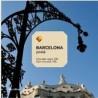 Gaudí Chocolate Postcard Passeig de Gracia Streetlights