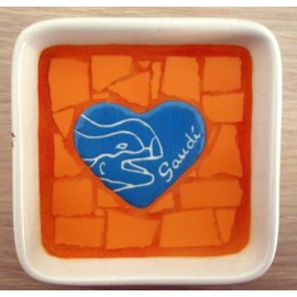 Gaudi Drac Tray Blue Heart
