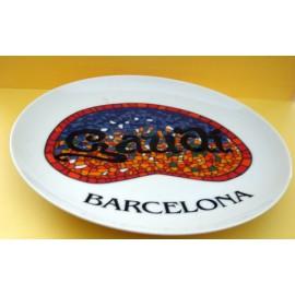 Assiette Gaudi Barcelone