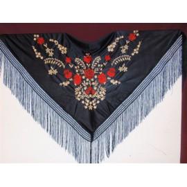 Mantón de manila negre