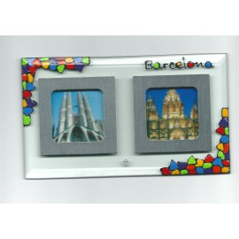 Glass Photo Frames Double Trencadís 10x17 cm