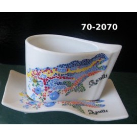 Lizard Espresso Coffee Cup and Saucer