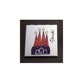 Espejito de bolso Sagrada Familia plateado