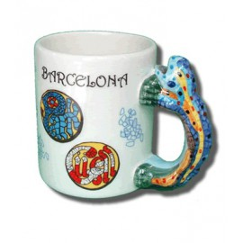 Handle Artistic Mug Cup Gaudi Lizard