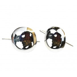 Modernist Enamel Earrings