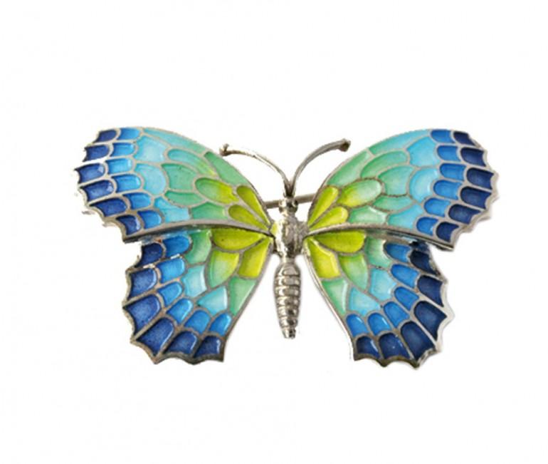 Gaudi Trencadis Butterfly Brooch