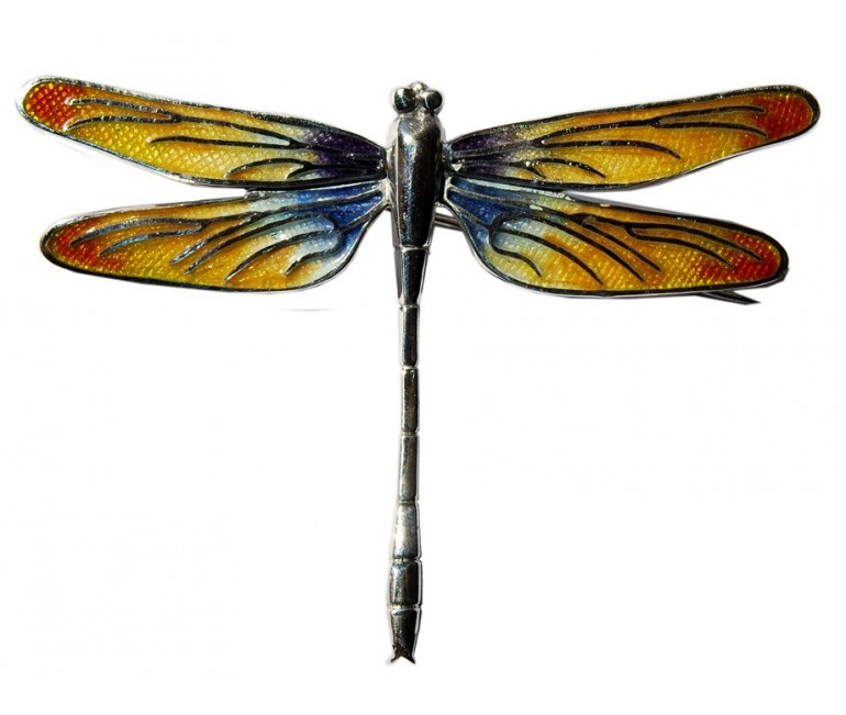 Dragonfly Gaudi Trencadis Brooch